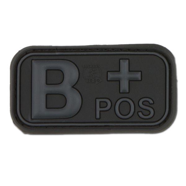 Parche 3D grupo sanguíneo B Pos blackops