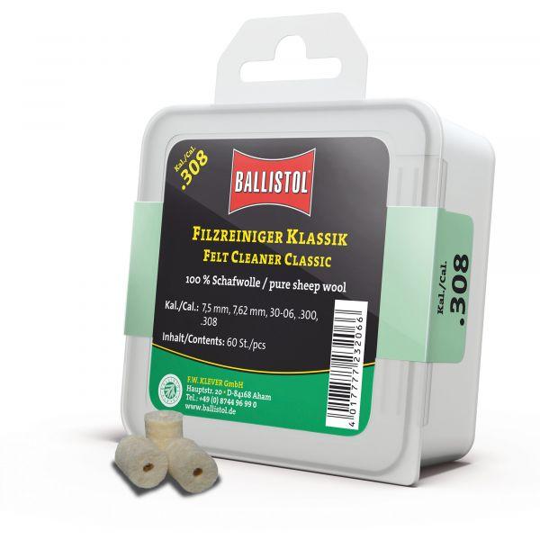 Ballistol Tapón de limpieza fieltro clásico cal. .308 60 uds.
