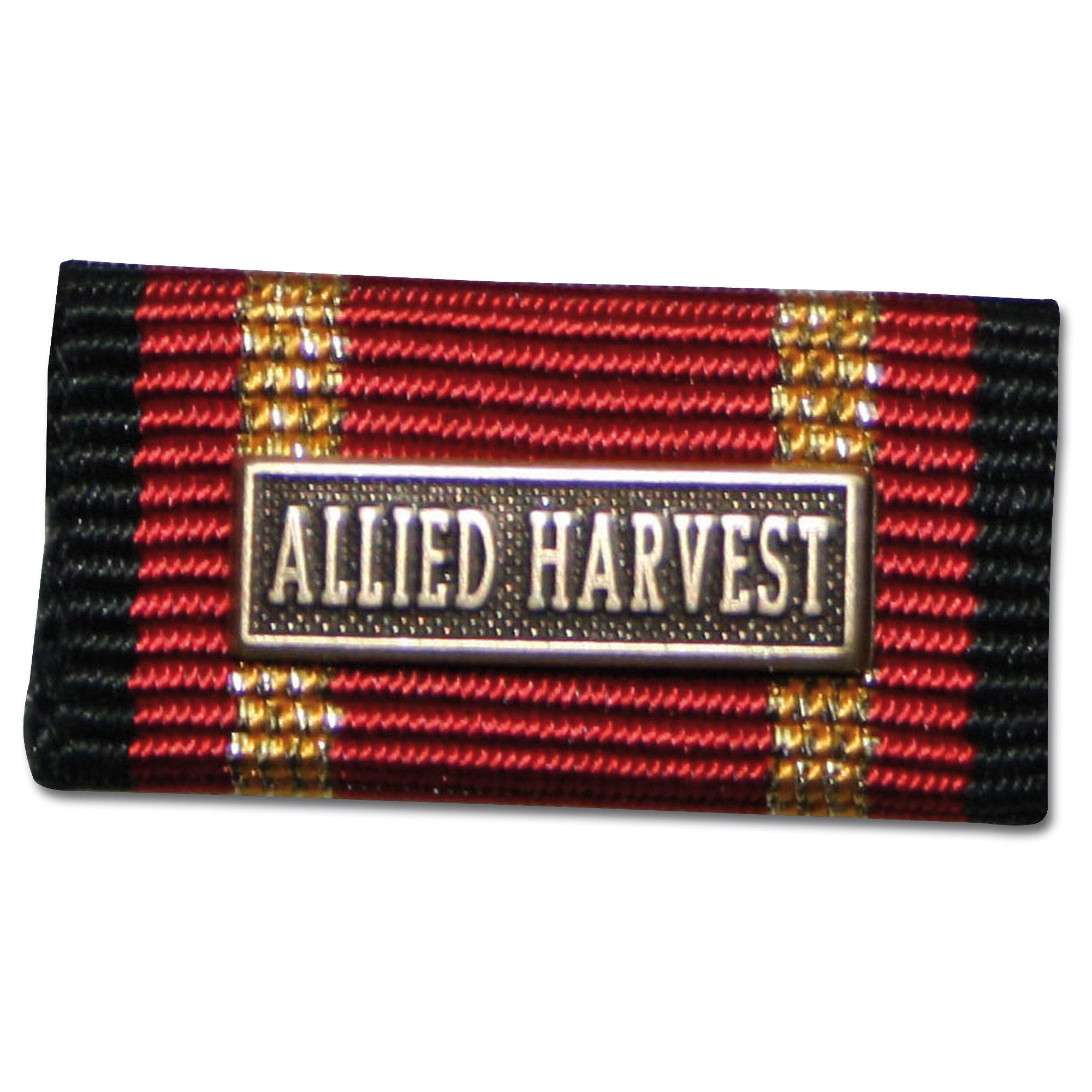 Placa de la orden por misiones en el extranjero ALLIED HARVEST b