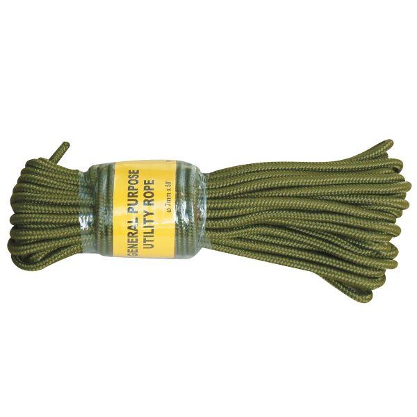 Cuerda comando verde oliva 7 mm