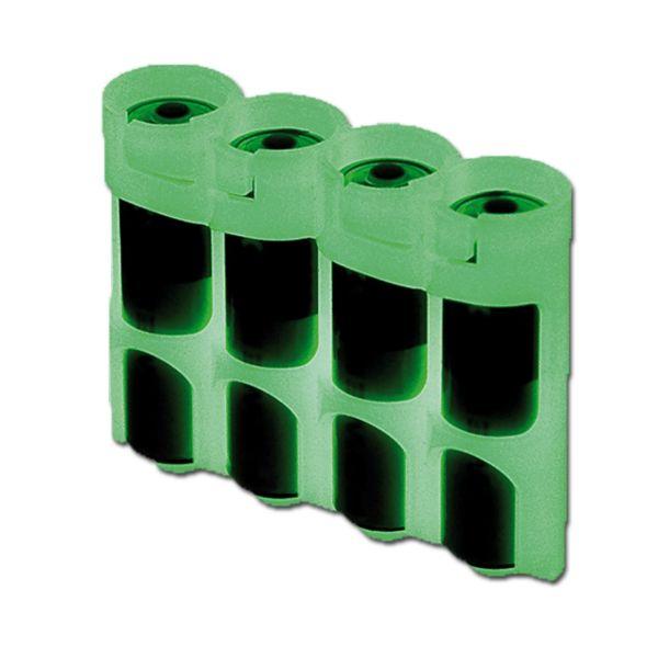 Soporte para baterías Powerpax SlimLine 4 x AA fosforescente