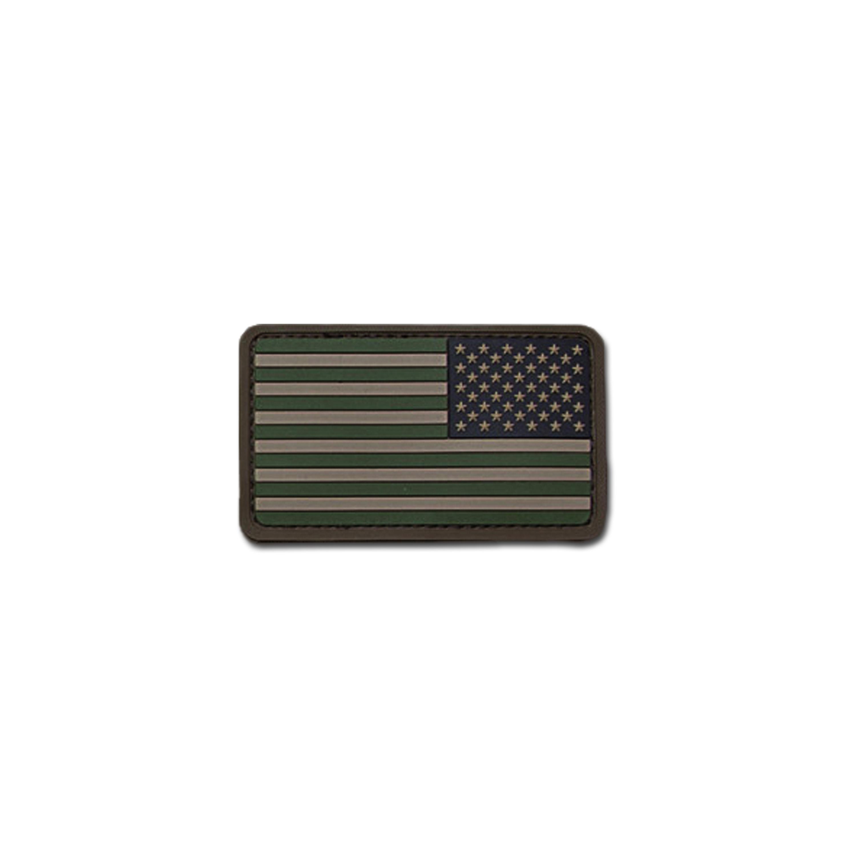 Parche MilSpecMonkey US Flag REV PVC forest