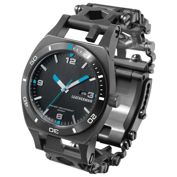 Multiherramienta Leatherman Multi Tool Reloj Tread Tempo negro