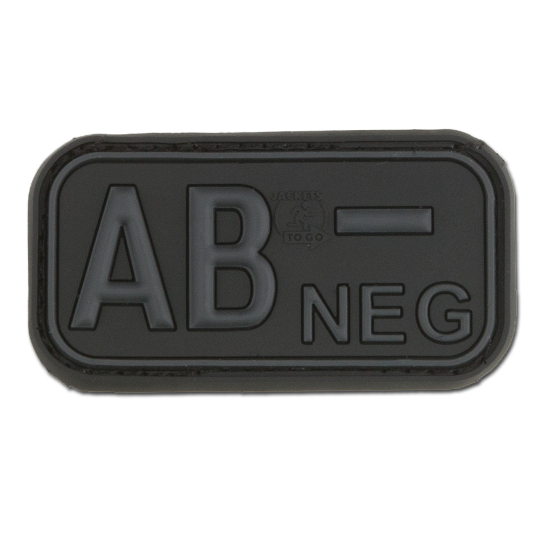 Parche 3D grupo sanguíneo AB Neg blackops