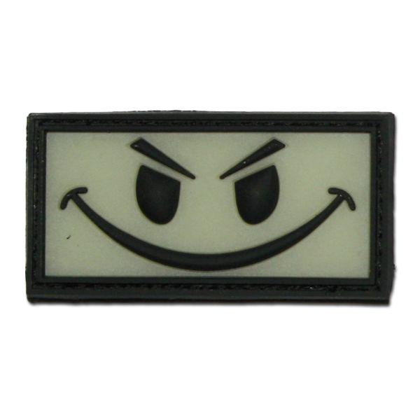 Parche 3D Evil Smiley fosforescente