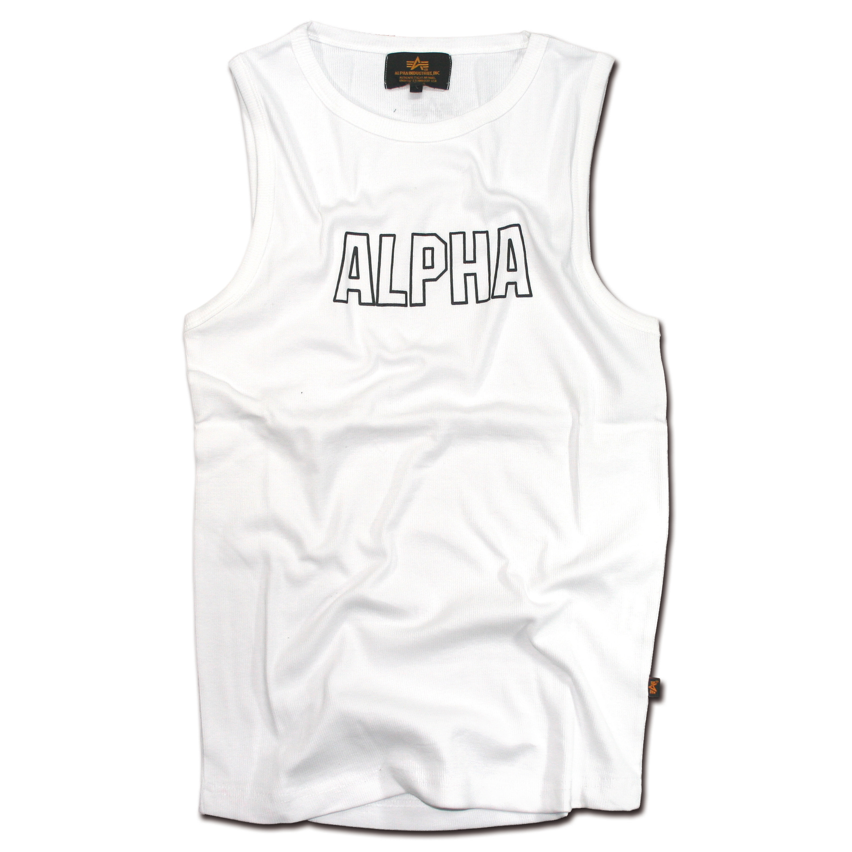 Camiseta manga cero Alpha Track blanca