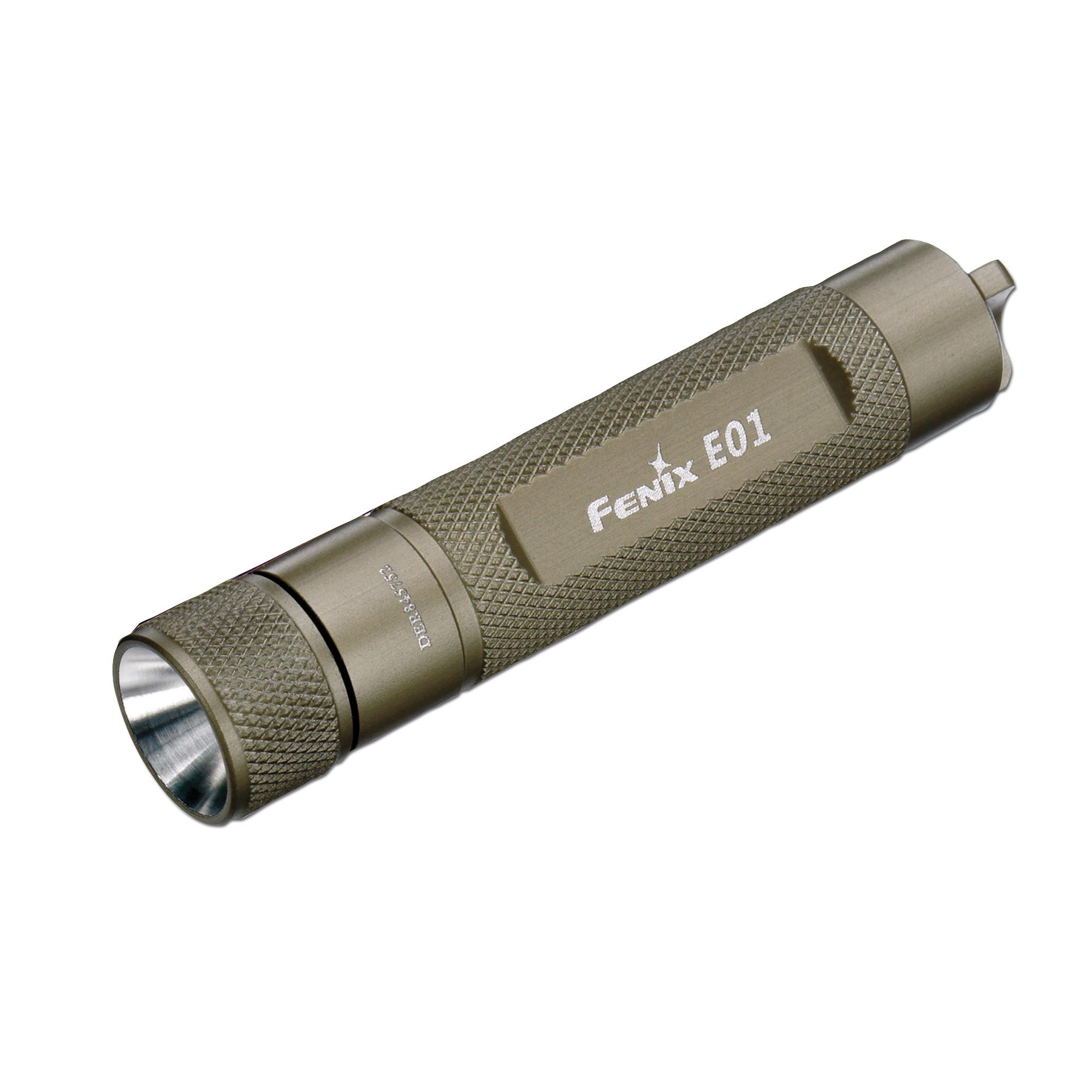 Linterna Fenix E01 LED gris