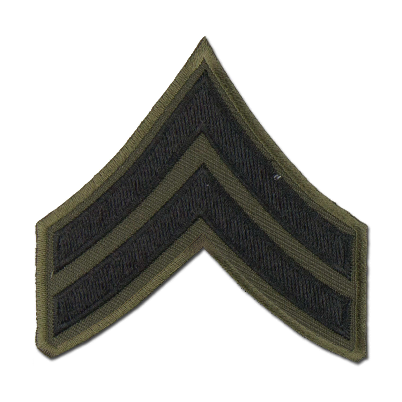 Distintivo textil de rango US Corporal negro