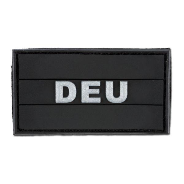 Parche 3 D DEU negro