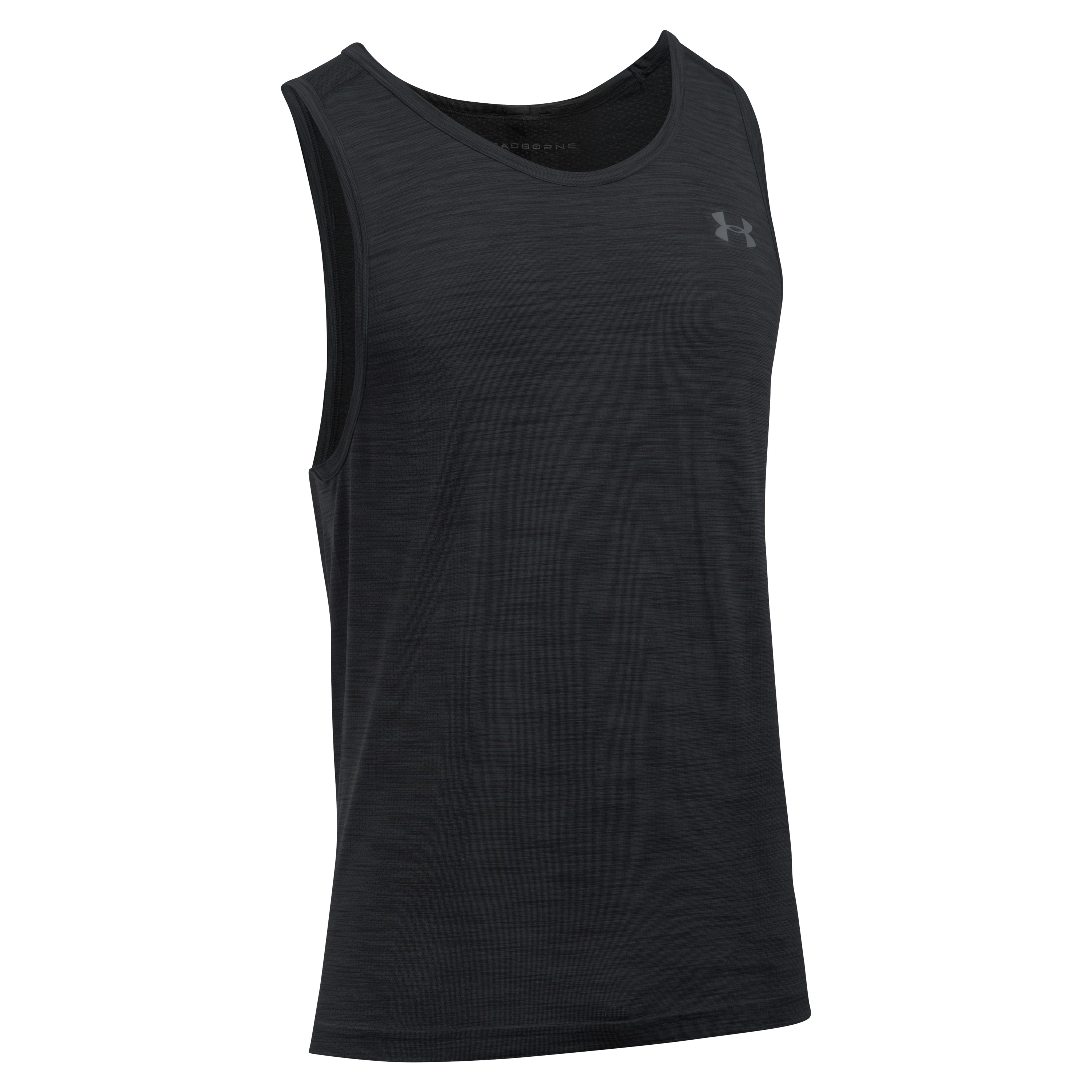 Camiseta sin mangas Under Armour Threadborne Seamless negra gris