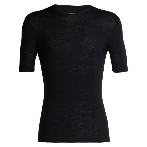 Camiseta Icebreaker Short Sleeve Everyday Crewe Merino negro