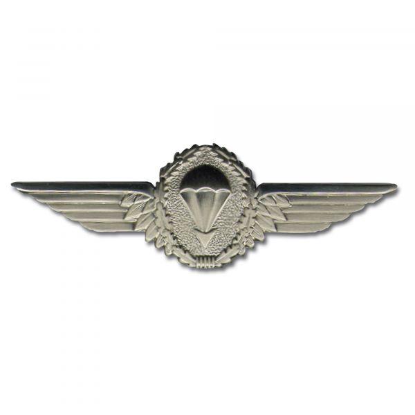 Distintivo BW paracaidismo plateado metal