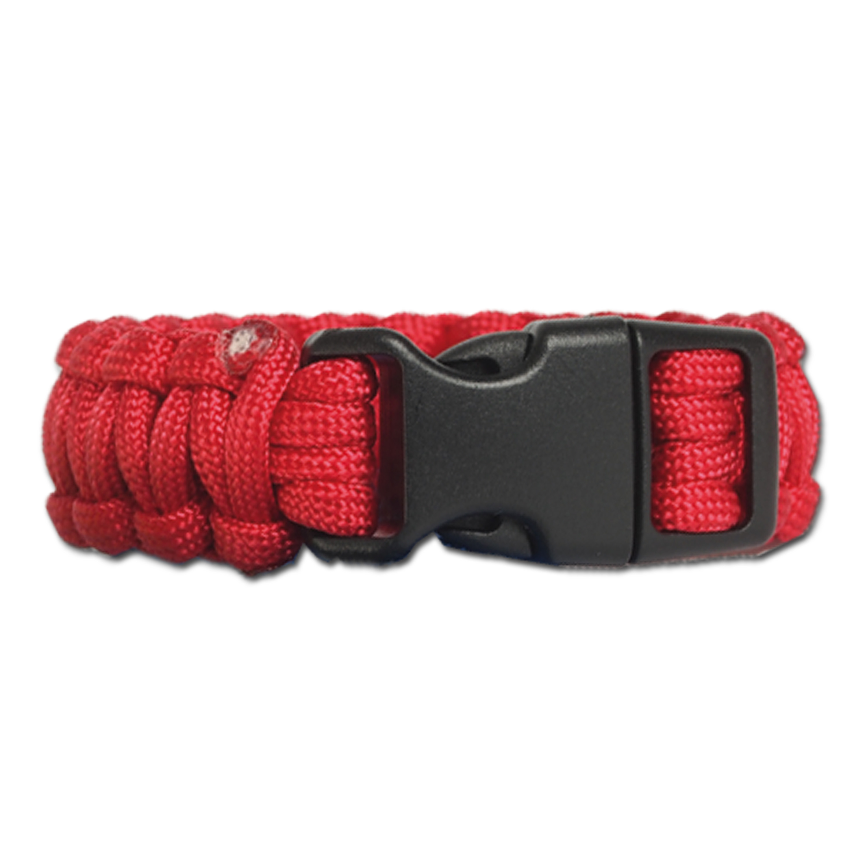 Survival Paracord Bracelet ancha roja