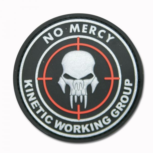 Insignia 3D NO MERCY - KINETIC WORKING GROUP negra