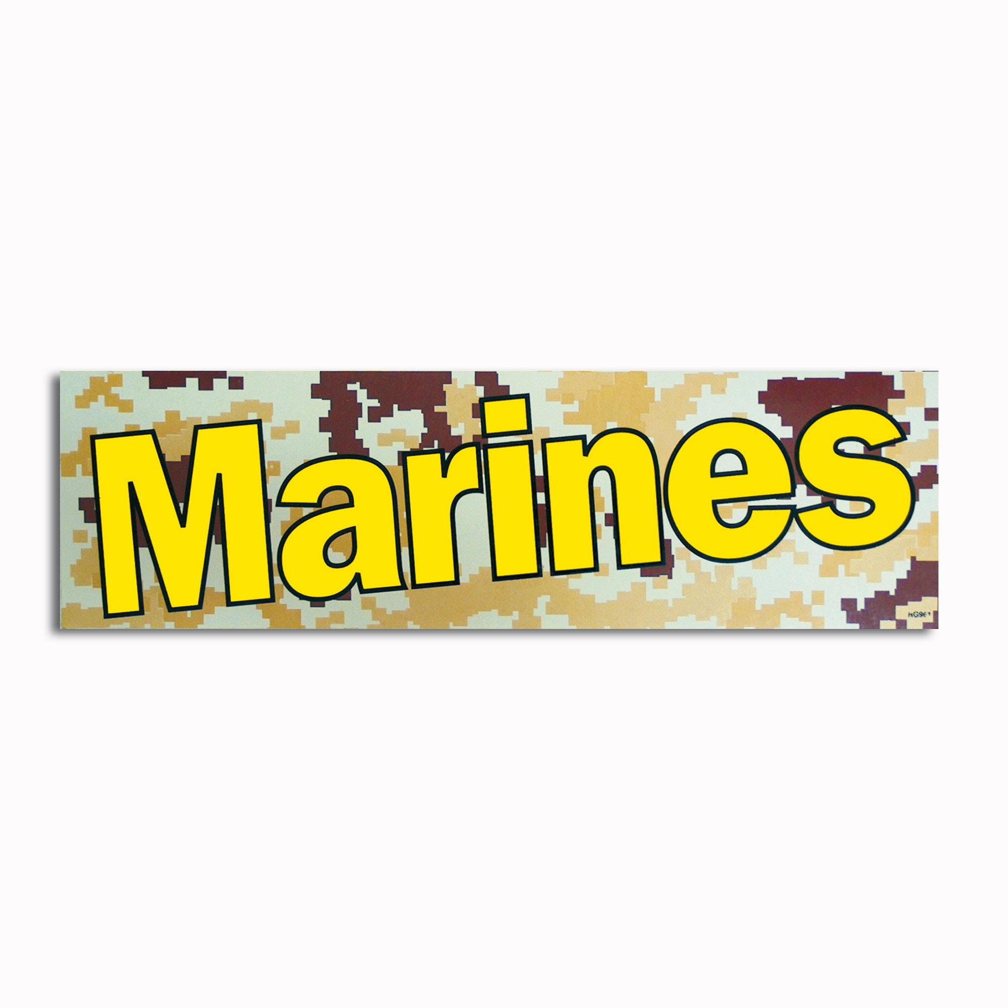 Pegatina Bumper Marines digital desert