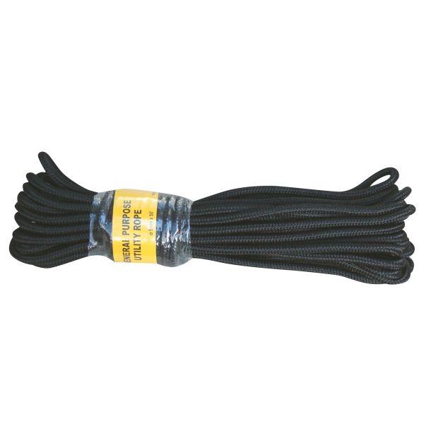 Cuerda comando negra 9 mm