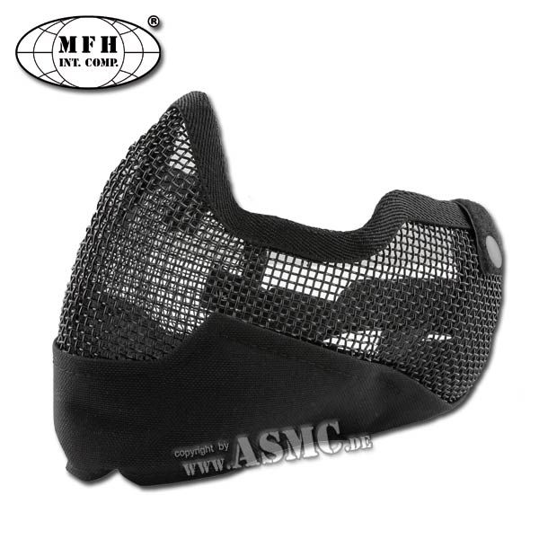 Máscara facial MFH Airsoft negra