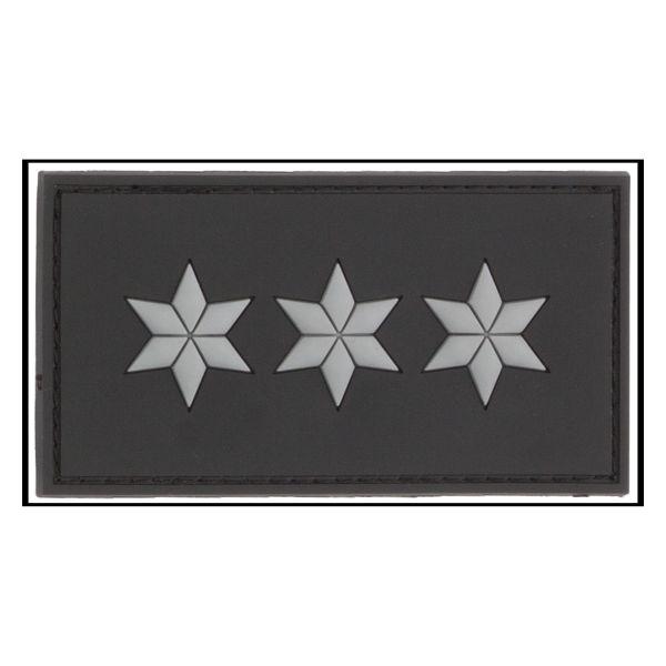 Parche - 3D Insignia de rango Polizeihauptkommissar negro