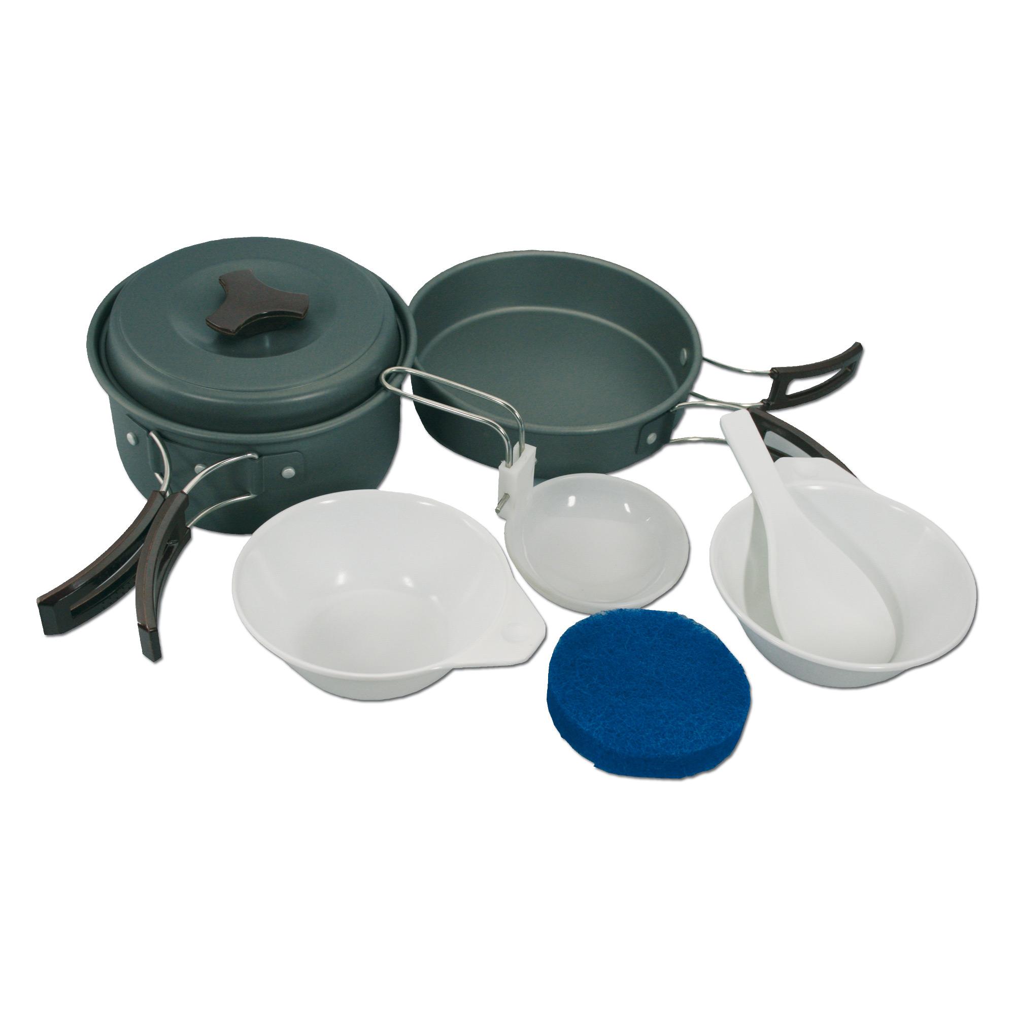 Set de cocina Mil-Tec - 2 personas aluminio anodizado