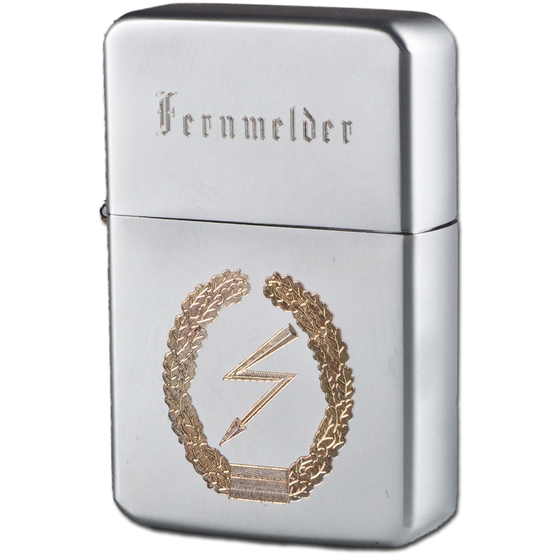 Encendedor de bolsillo Z-Plus Gas con grabado de Fernmelder