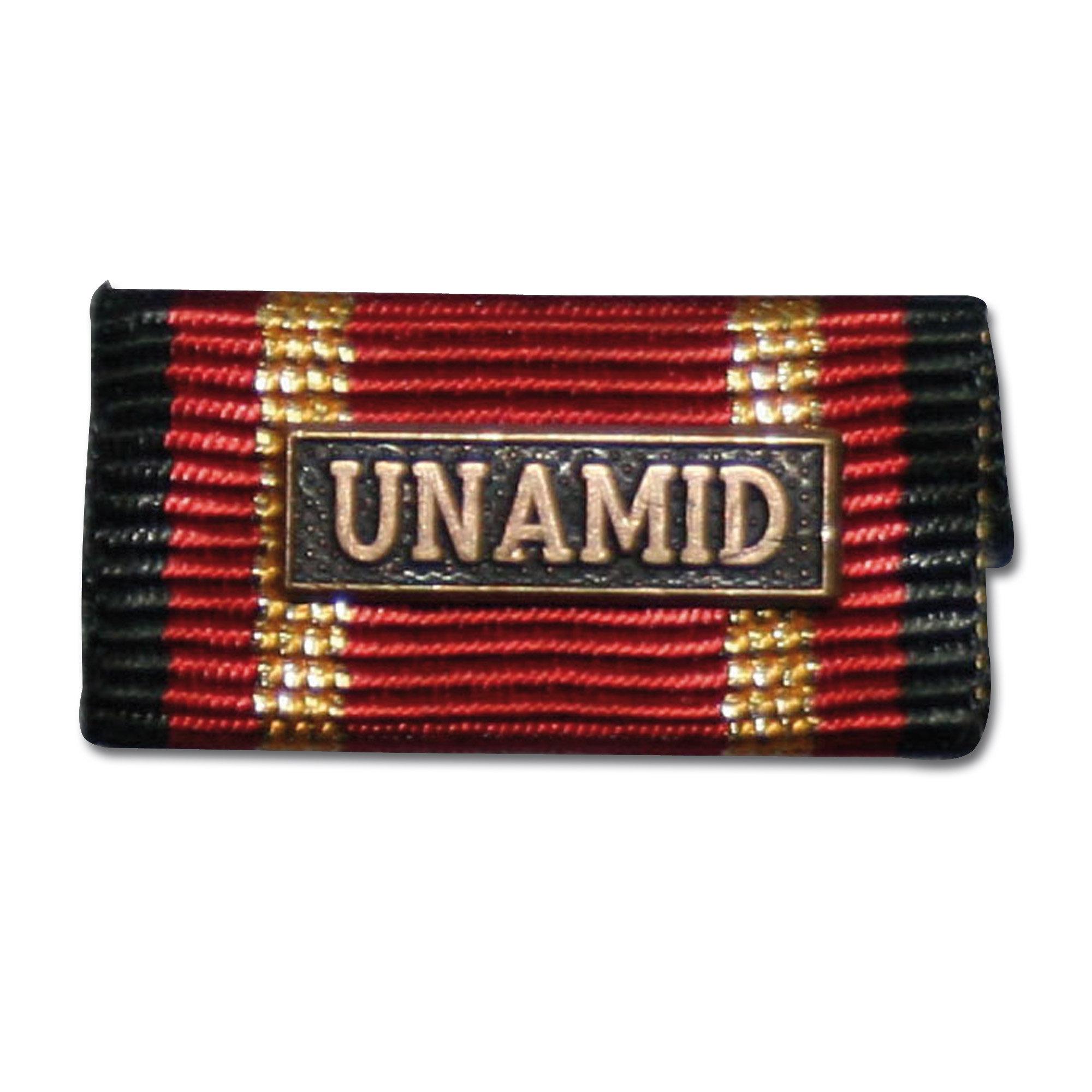 Placa de la orden por misiones en el extranjero UNAMID bronce
