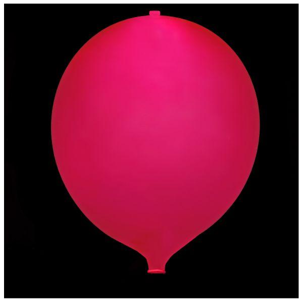 KNIXS Tac Ballon globo rojo LED intermitente blanco