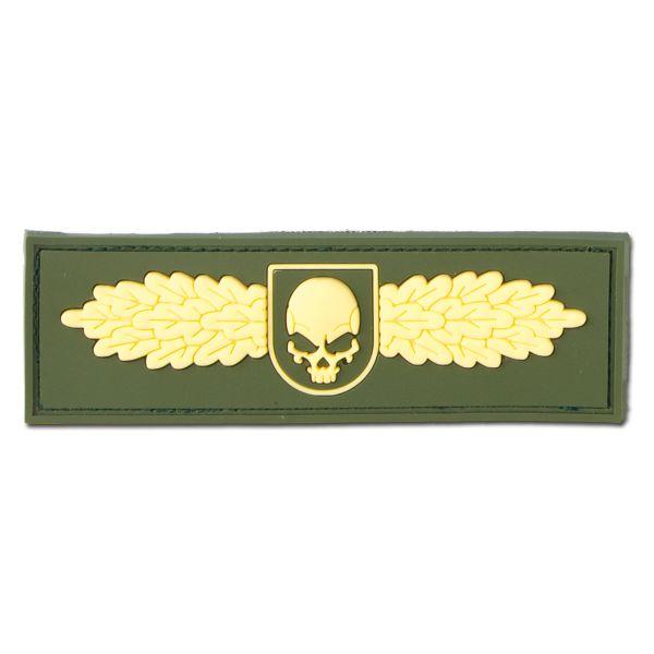 Parche 3D SOF Skull Badge dorado