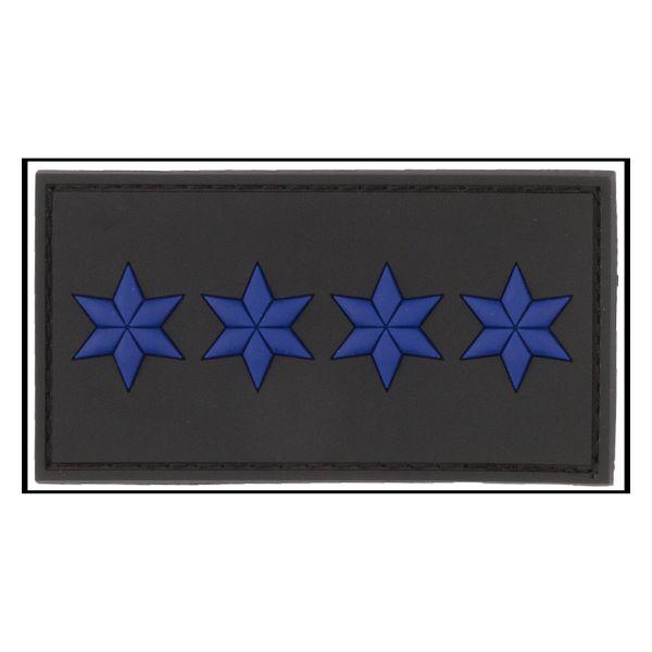Parche - 3D Insginia de rango Polizeihauptmeister negro