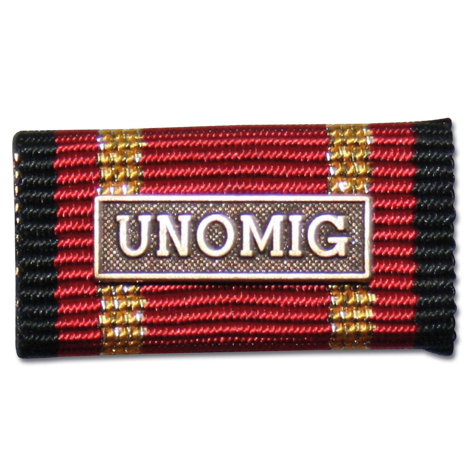 Placa de la orden por misiones en el extranjero UNOMIG bronce