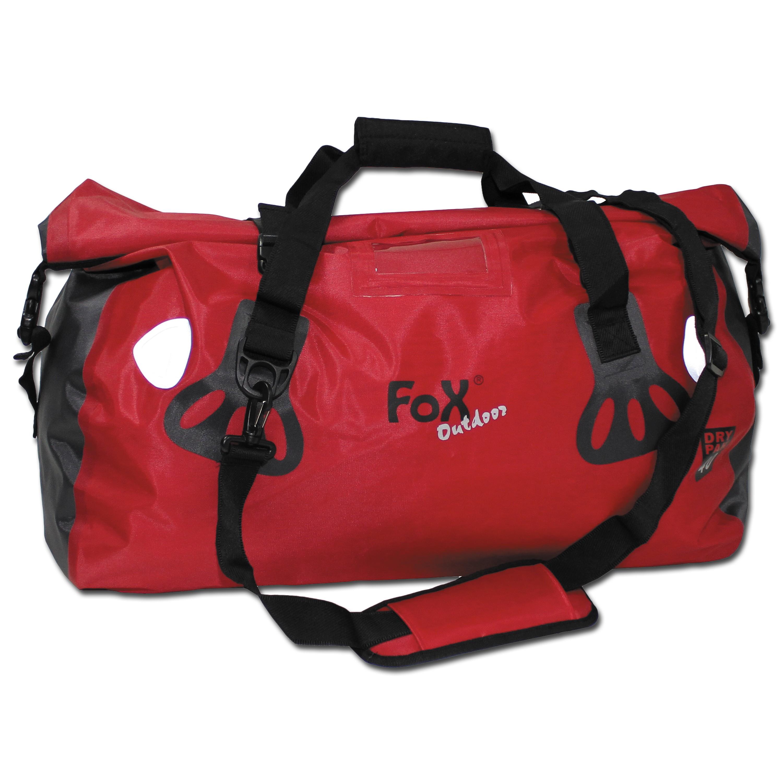 Bolsa de transporte Fox Outdoor DRY PAK 40, roja, impermeable