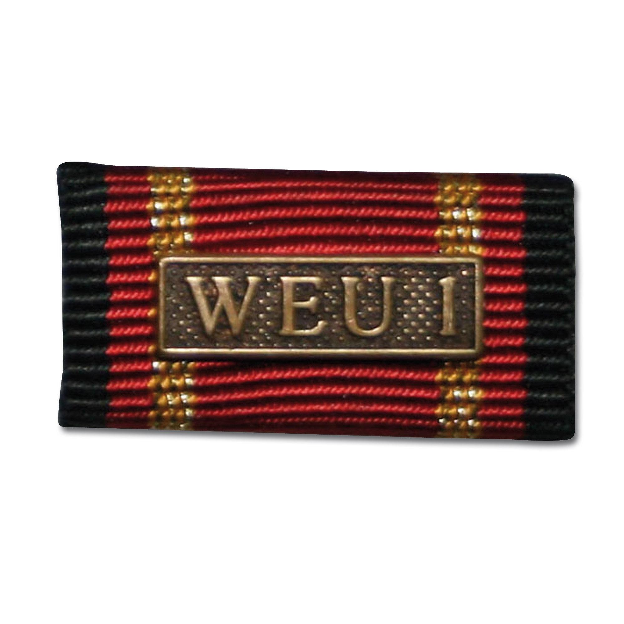 Placa de la orden por misiones en el extranjero WEU 1 bronce