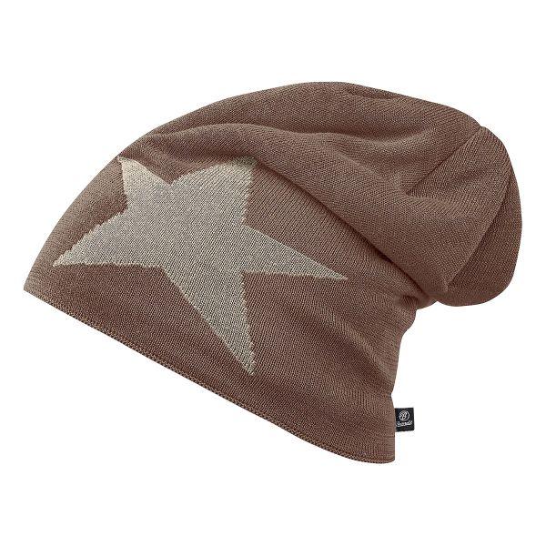 Gorra Brandit Beanie Jersey Star marrón caqui