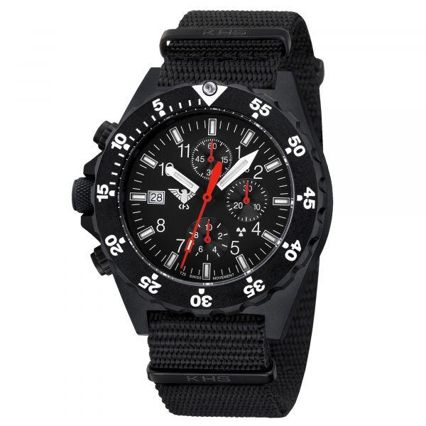 Reloj KHS Shooter Chronograph correa OTAN negra