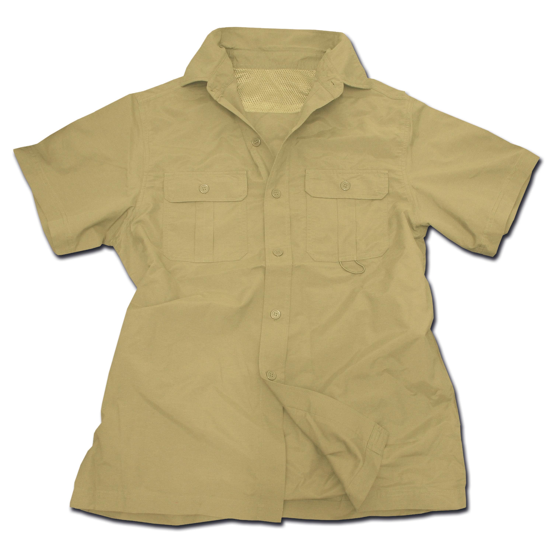 Camisa Outdoor mangas cortas caqui