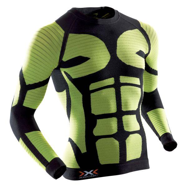 Camiseta X-Bionic Precuperation negro-amarillo