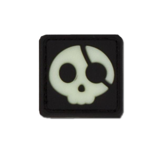 Insignia en 3D pirata de halloween fosforescente