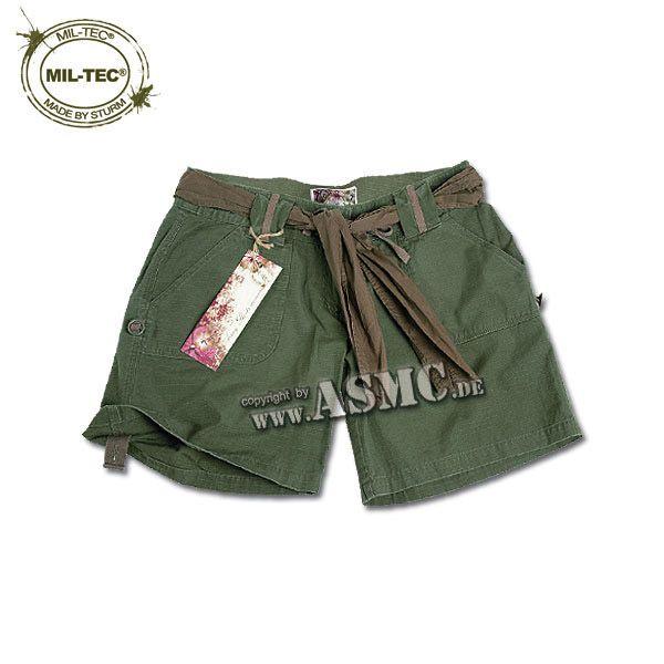 Army Shorts Woman olivgreen