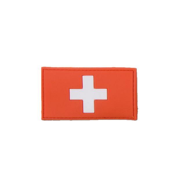 Parche 3D Bandera Suiza a todo color