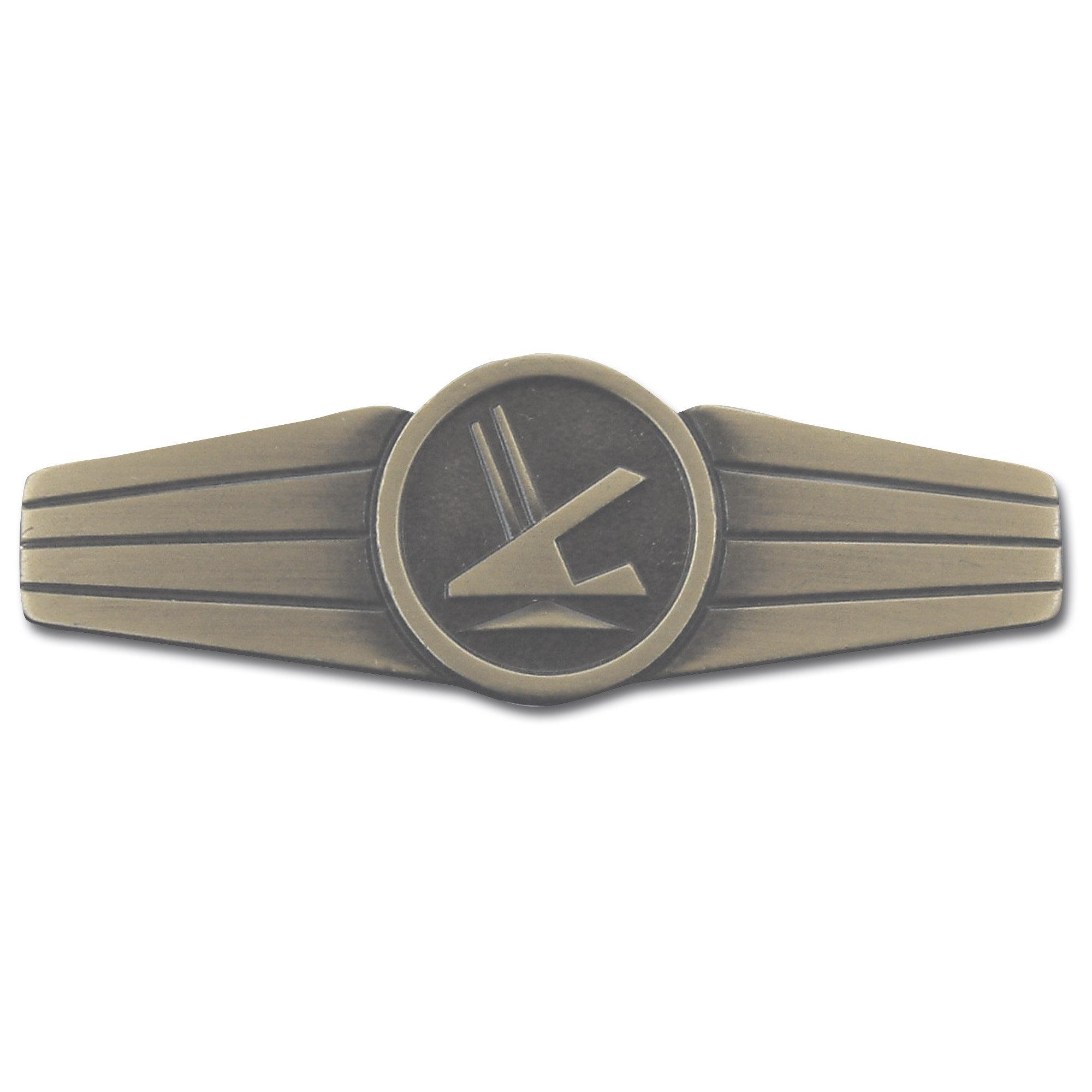 Distintivo BW personal de seguridad metálico bronce (viejo)