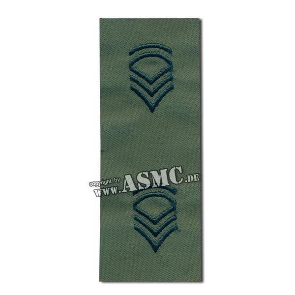 Distintivo textil de rango US Sergeant FC verde oliva