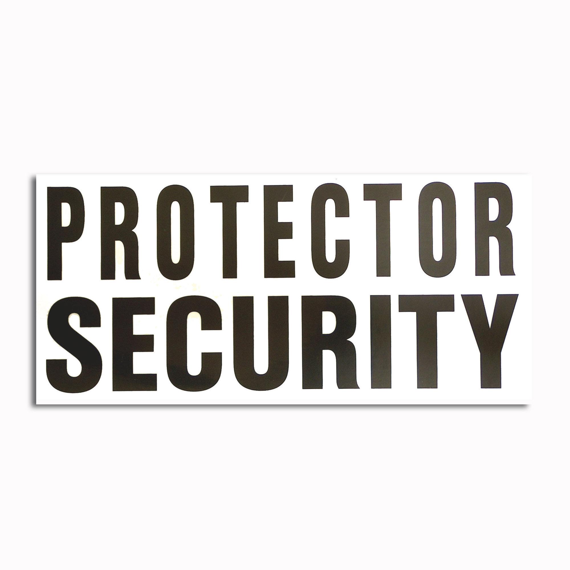 Calcomanía transparente Protector Security