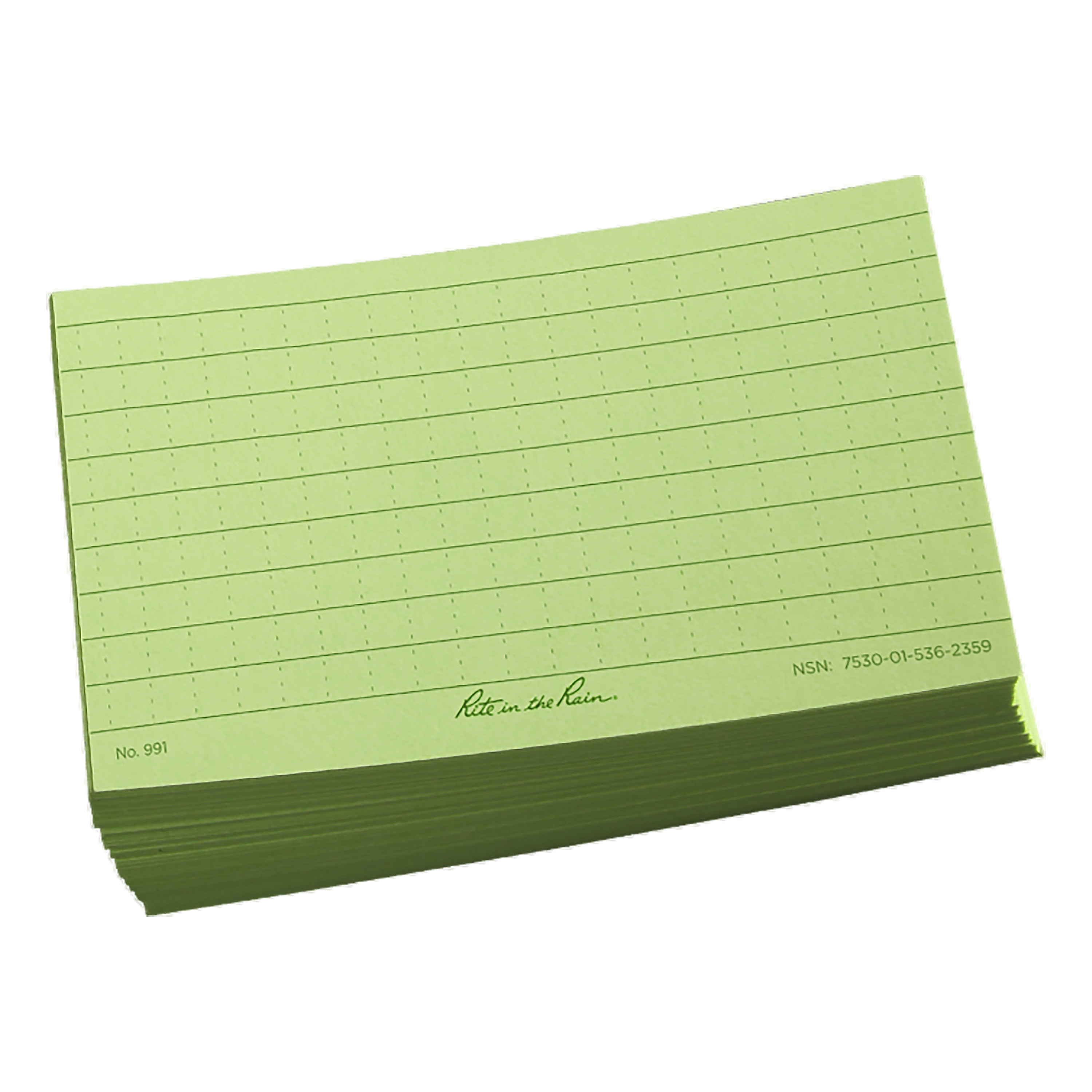 Tarjetas Rite in the Rain Index Card 3x5 verde oliva