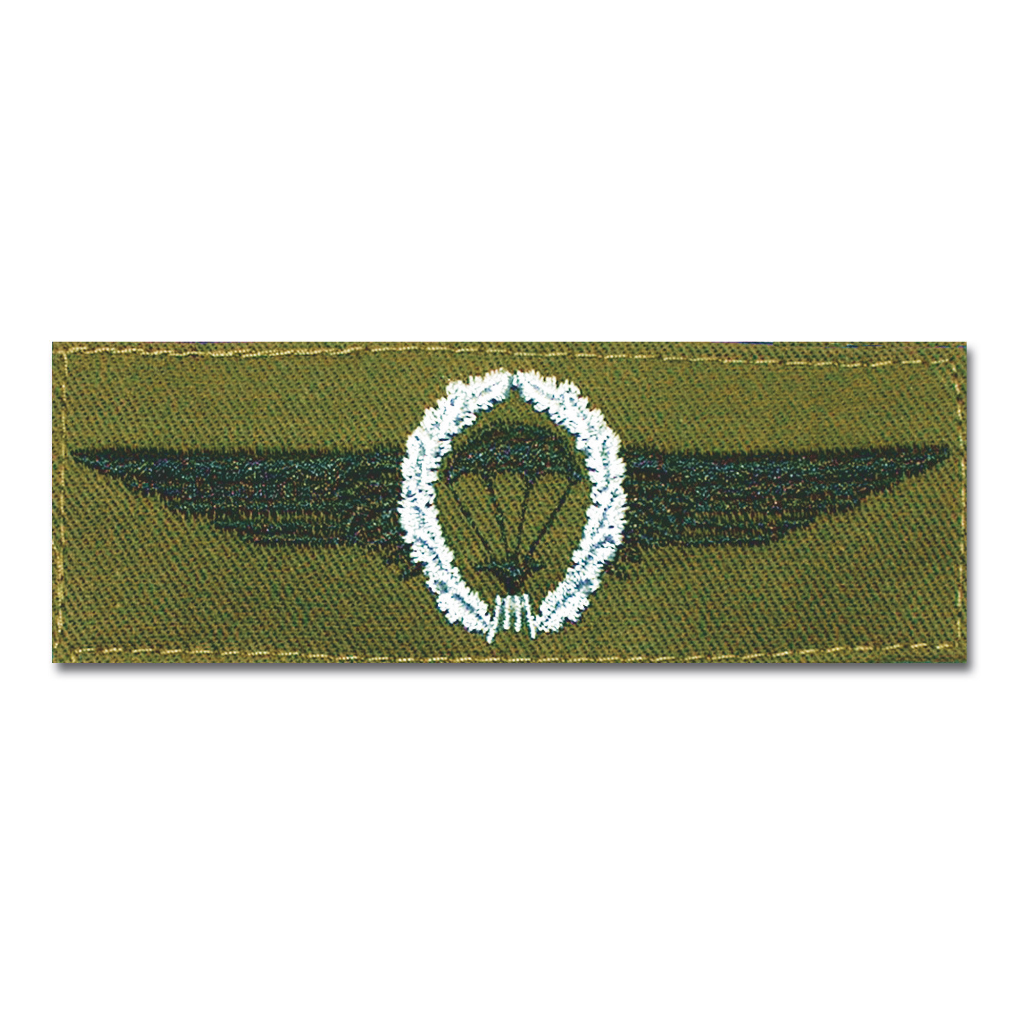 Insignia BW Fallschirmspringer plateado /verde oliva
