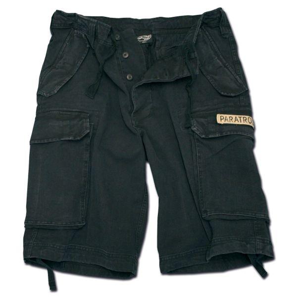 Short Paratrooper Mil-Tec washed negro