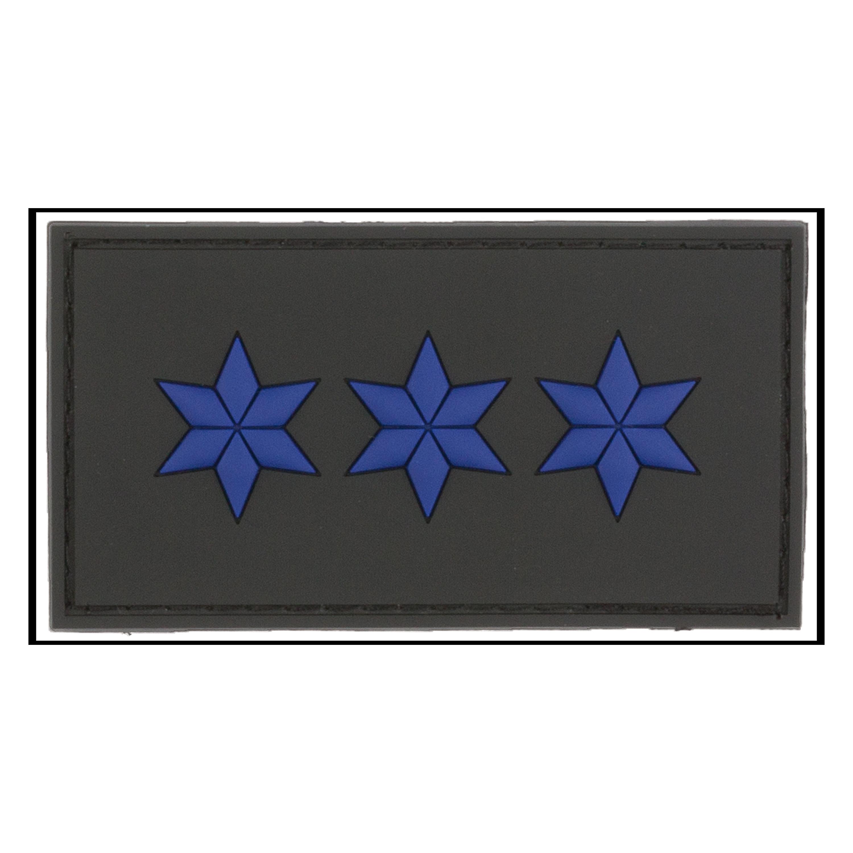 Parche - 3D Insignia de rango Polizeiobermeister negro
