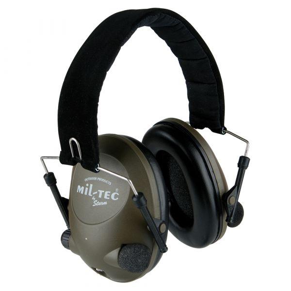 Protección auditiva electrónica Mil-Tec verde oliva