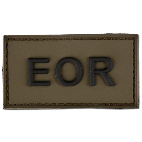 Parche 3D EOR - Explosive Ordnance Reconaissance oliva/negro