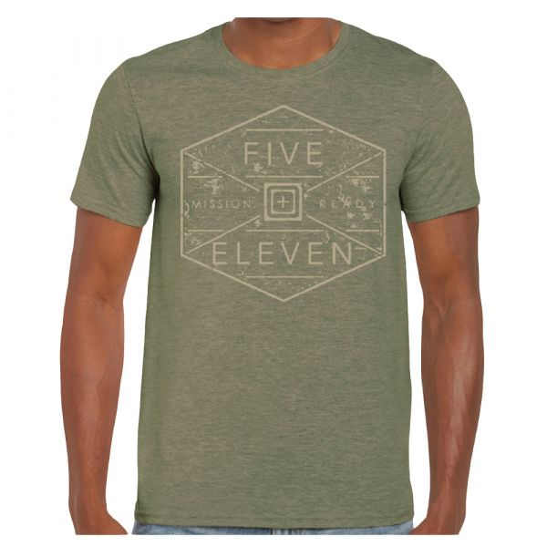 5.11 Camiseta Hex Grid military green