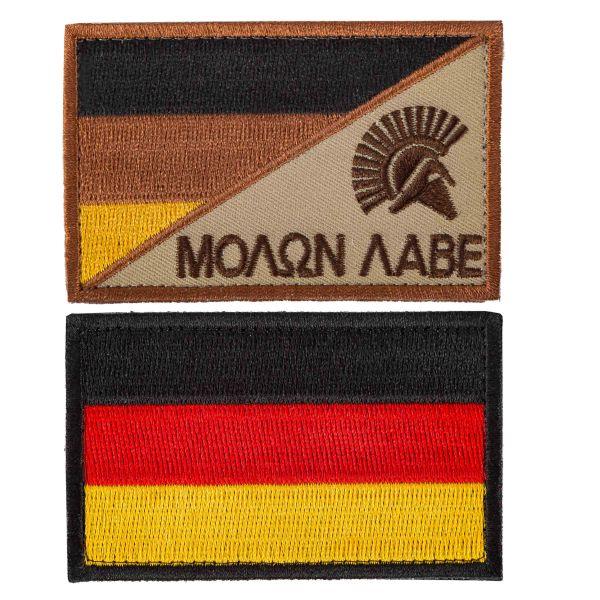 TacOpsGear Parche Set Molon Labe & Bandera Alemania set 2 uds.