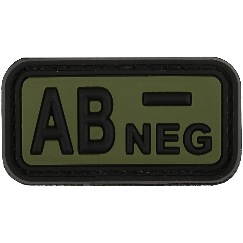 Parche - 3D TAP grupo sanguíneo AB Neg forest